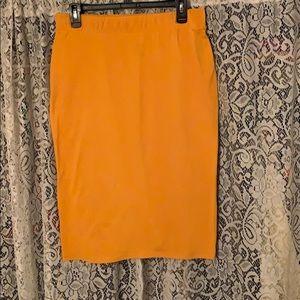 NWOT Mustard Pencil Skirt
